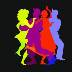 Fototapeta taniec neonowy obraz