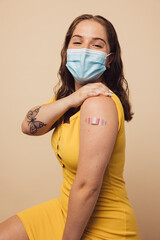 Woman after getting covid vaccine