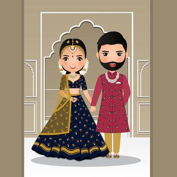 Vector free cartoon download couple wedding Wedding Couple