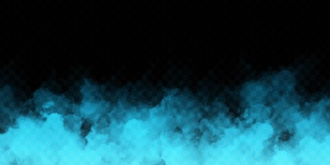 Obraz Vector realistic isolated Blue Smoke effect for decoration and covering on the transparent background. - fototapety do salonu