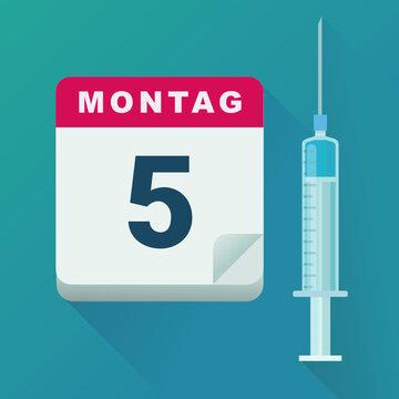 Datum der Impfung (flaches Design)