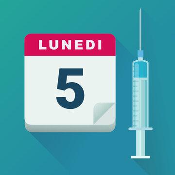 Data di vaccinazione (design piatto)