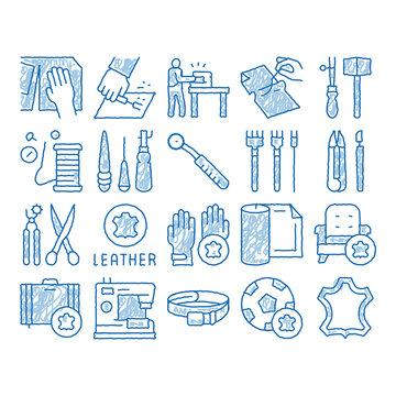 Leatherworking Job icon hand drawn illustration