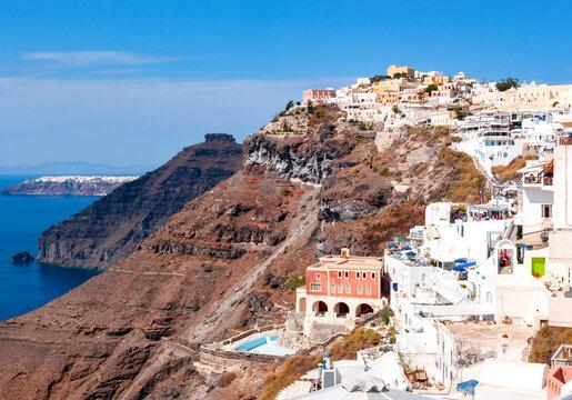 Town of Thira cityscape, Santorini island, Greece