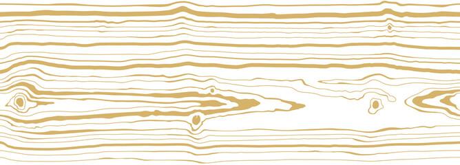 Fototapeta Dense thin lines pattern white background with light golden vein. Wood grain texture. Seamless tree pattern. Vector wallpaper obraz