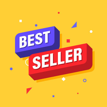 Bestseller, Banner Promotion and Shopping Template Design. Vector illustration