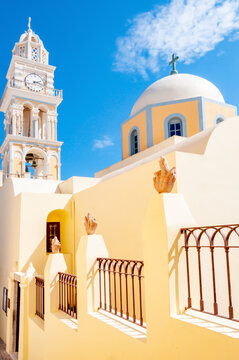 Catholic cathedral in Thira, Santorini island, Greece