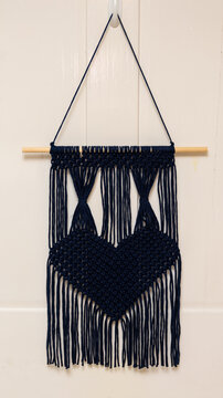Hand crafted macrame wall hanging.