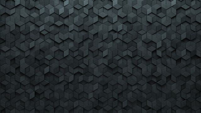 Semigloss, 3D Mosaic Tiles arranged in the shape of a wall. Concrete, Diamond shaped, Bricks stacked to create a Polished block background. 3D Render