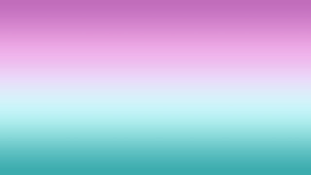 An Abstract colorful combination of Orchid, Lilac, Turquoise, and Blue-Green solid color linear gradient background on the horizontal frame