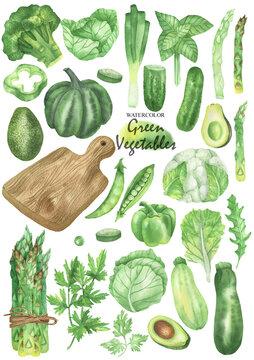 Green vegetables set