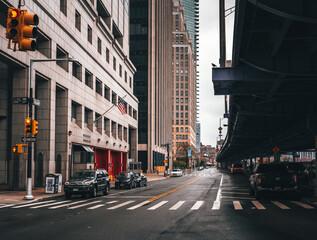 street scene New York usa buildings