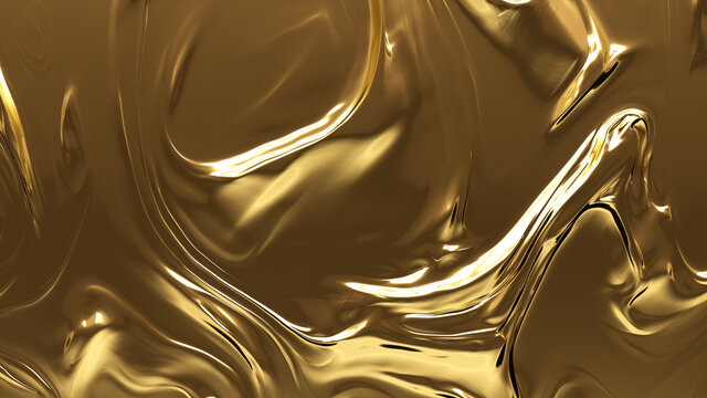 Metallic, Gold, Smooth texture. A Golden surface for Luxurious, Opulent Backgrounds.