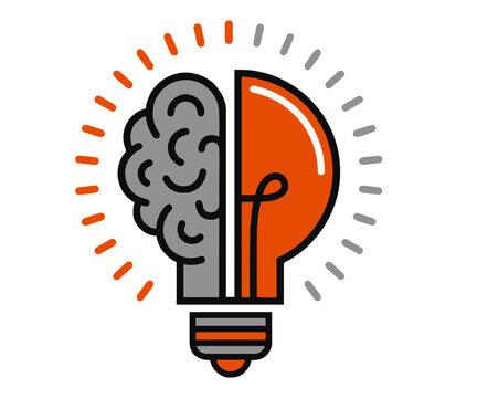 solution blub Light Brain human  symbol