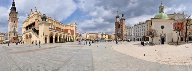 Obraz Old Town square in Krakow, Poland - fototapety do salonu