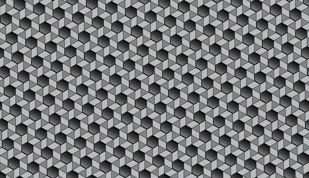 nahtlos Tapete, Hintergrund - magische Wand mit Sechskant-Figuren (Hexagon), Bienenwabe