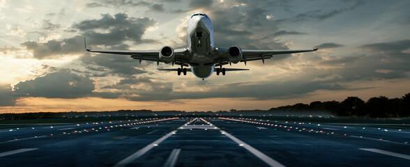 Fototapeta Flugzeug bei einer Landung obraz