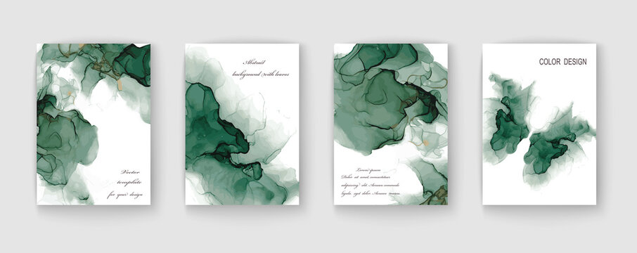 Modern creative marble texture design background. Alcohol ink. Vector illustration.