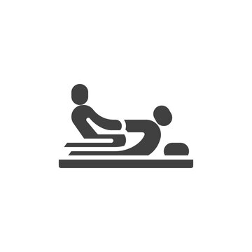 Thai massage vector icon