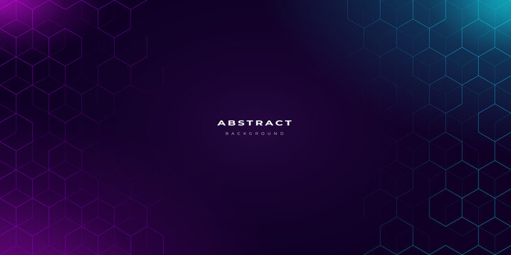 abstract neon background with hexagonal pattern
