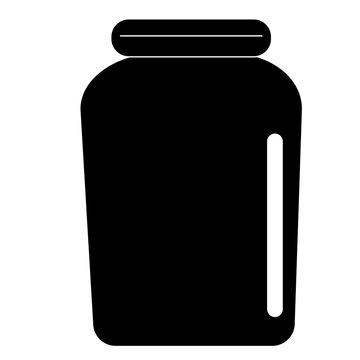 glass jar icon on white background. honey sign. flat style. jar symbol. bottle icon.