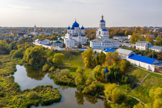 Aerial view of Nativity Bogolubsky monastery (XVIII century). Bogolubovo, Vladimir Oblast, Russia.