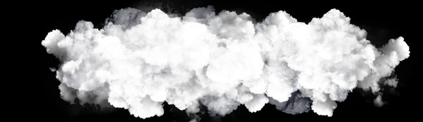 Fototapeta Panorama white cloud on black background. Wide sky and clouds dark tone.