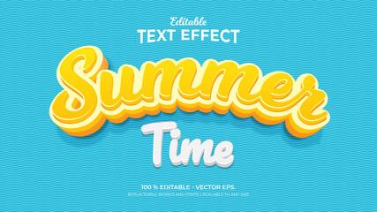 Fototapeta Text Effects, 3d Editable Text Style - Summer Time obraz