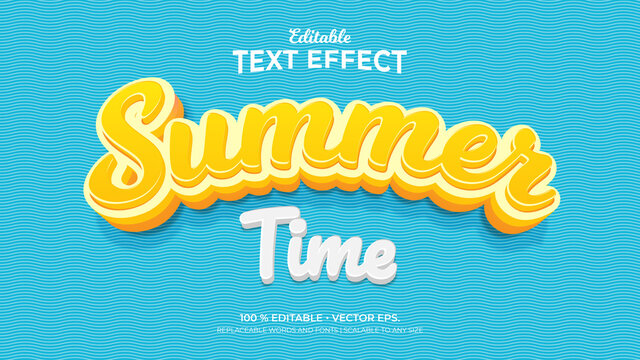 Text Effects, 3d Editable Text Style - Summer Time