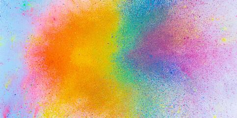 Obraz The bright explosion of colorful inkes - fototapety do salonu
