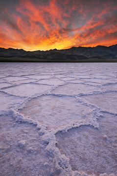 Salt Formations, Badwater, Death Valley National Park, California
