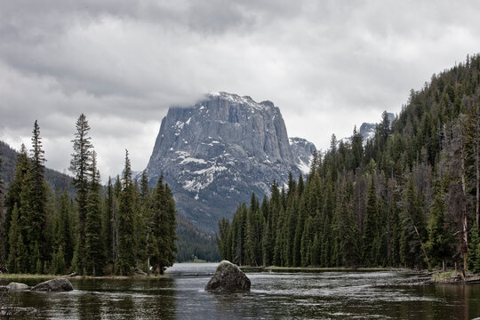 squaretop mountain and the green river near green river lakes, wind river mountains, sublette county Wyoming