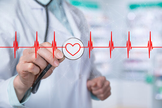 Heart disease diagnosis treatment concept.
