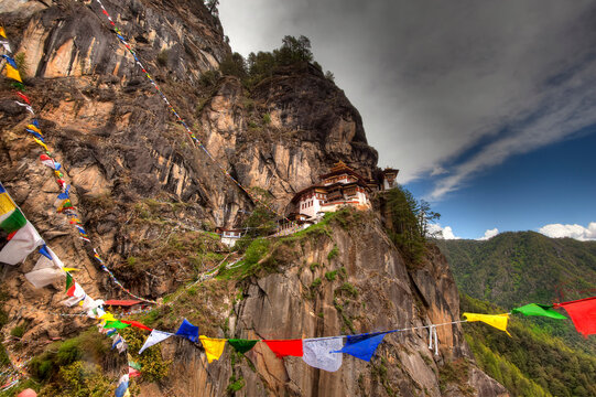 Perched on a precarious cliff edge 900 feet above the valley floor, the Tiger's Nest Monastery (Takshang Goemba) serves as Bhutan's star attraction