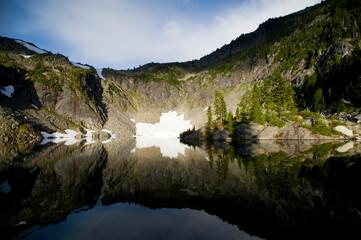 Copper Lake at sunrise, North Cascades National Park, Washington. Wall mural