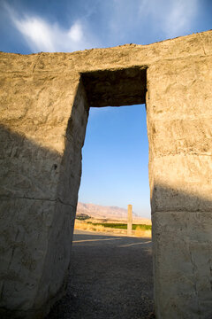 A replica of Stonehenge built by Sam Hill, a memorial to honor soldiers in WWI that gave their lives, Maryhill, Washington.