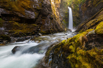 Wells Creek Falls, Snoqualmie National Forest, Washington State, USA Wall mural
