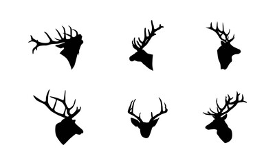 deer head silhouette vector illustration