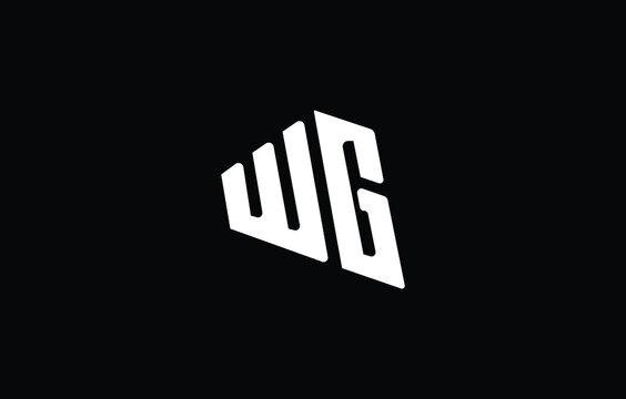 Initial based G, GG, WG, GW,  logo template. Unique monogram alphabet letters design and vector.