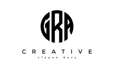Fototapeta Letter GRA creative circle logo design vector obraz