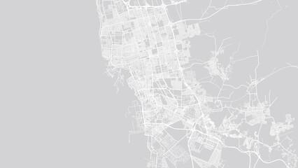 Urban vector city map of Jeddah, Saudi Arabia, Middle East - fototapety na wymiar