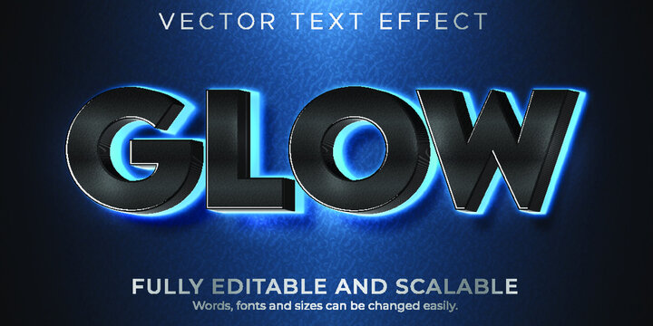 Editable Font And 3D Effect Text Design