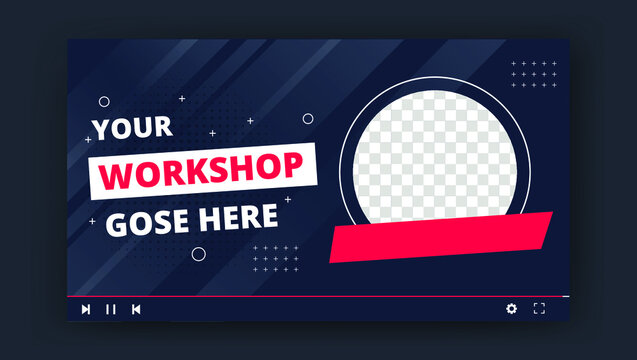 Youtube thumbnail for live workshop promotion template