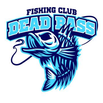 largemouth bass fish skull mascot