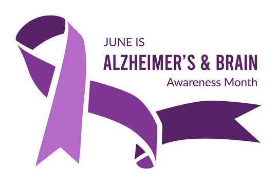 Alzheimer's and Brain Awareness Month. Vector illustration