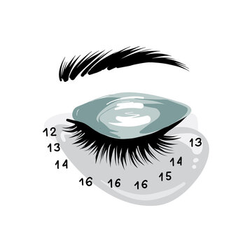 Eyelash extension art, lash mapping Beauty Cosmetics treatment,  Professional beauty branding social media highlights icons set. Custom drawing , eyebrow CT