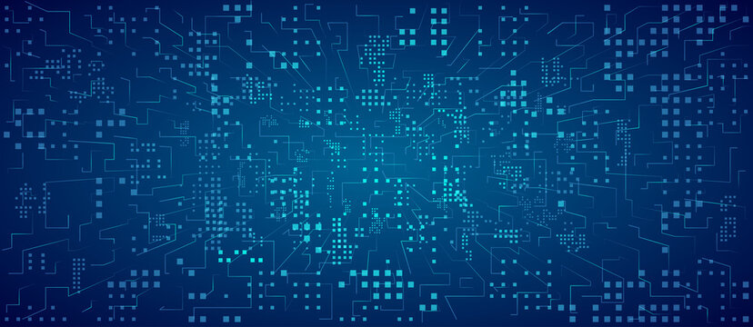 Futuristic technology background. Digital data stream. Binary computer code.