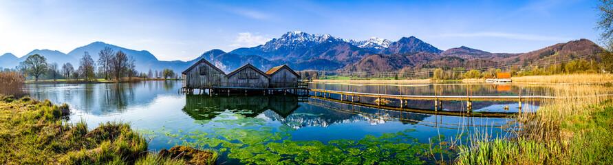 Fototapeta landscape at the lake kochel - bavaria