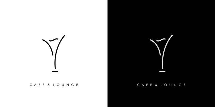 Modern and elegant bar and lounge logo design