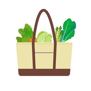 買い物バッグ 野菜入り